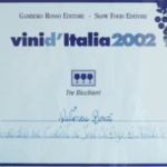 premio 3 bicchieri Bonci