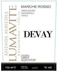 Etichetta Igt Marche Rosso Devay Lumavite