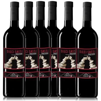 Offerta 6 bottiglie Rosso Piceno Dieci Sassi
