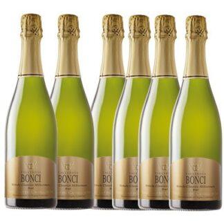 Offerta 6 bottiglie Spumante metodo classico brut Vallerosa Bonci